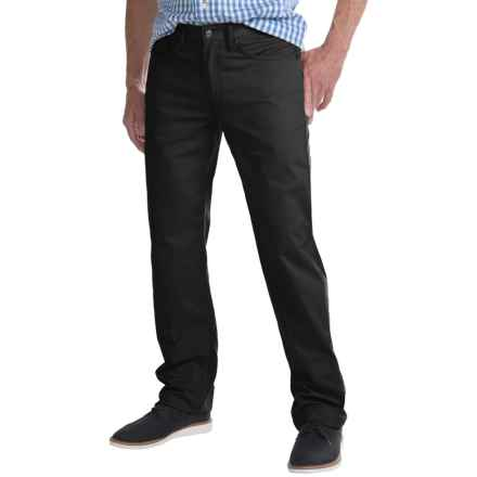 Regular Fit Straight-Leg Jeans - 5-Pocket (For Men) in Black - Closeouts