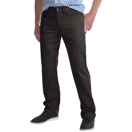 Regular Fit Straight-Leg Jeans - 5-Pocket (For Men) in Charcoal - Closeouts