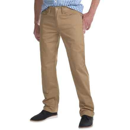 Regular Fit Straight-Leg Jeans - 5-Pocket (For Men) in Dark Tan - Closeouts