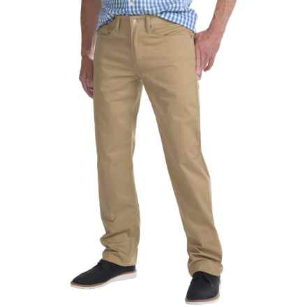 Regular Fit Straight-Leg Jeans - 5-Pocket (For Men) in Khaki - Closeouts