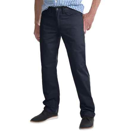 Regular Fit Straight-Leg Jeans - 5-Pocket (For Men) in Navy - Closeouts