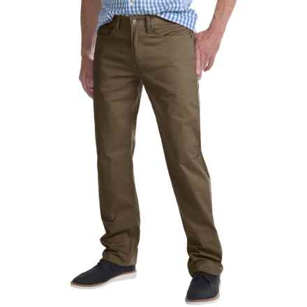 Regular Fit Straight-Leg Jeans - 5-Pocket (For Men) in Taupe - Closeouts