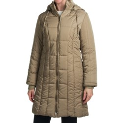 Reilly Olmes Quilted Jacket - Insulated (For Plus Size Women) in Champagne