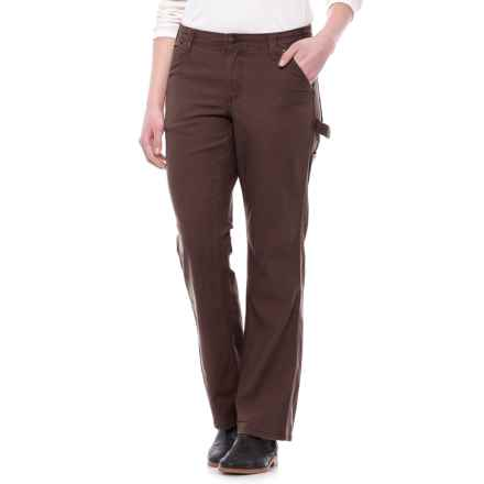 Reinforced Work Pants - Cotton Denim (For Women) in Dark Brown - 2nds