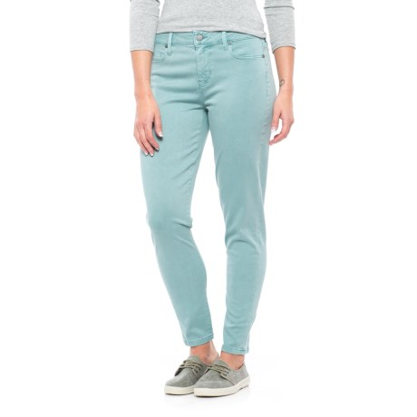 Relaxed Ankle Skinny Pants - Mid Rise (For Women)