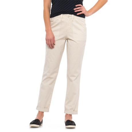 Relaxed Cuffed Chino Pants (For Women)