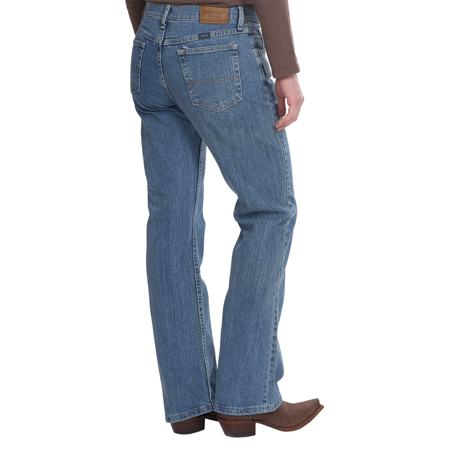 Comfort Fit 5-Pocket Bootcut Jeans: You asked for it, you got it — 5-pocket jeans that give you the perfect mix of comfort, fashion and a great fit. High-quality stretch denim, bootcut jeans feature functional pockets, a comfort waist that stays flat and a faux-fly front.