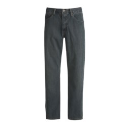 Relaxed Fit Denim Jeans - 5-Pocket (For Men) in Stonewash