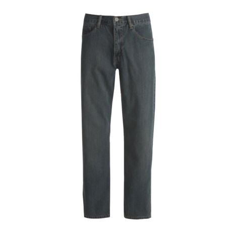 Relaxed Fit Denim Jeans - 5-Pocket (For Men) in Dark Denim