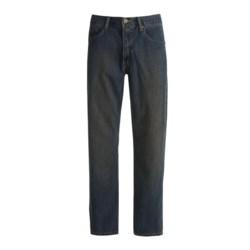 Relaxed Fit Denim Jeans - 5-Pocket (For Men) in Dirty Dark Denim