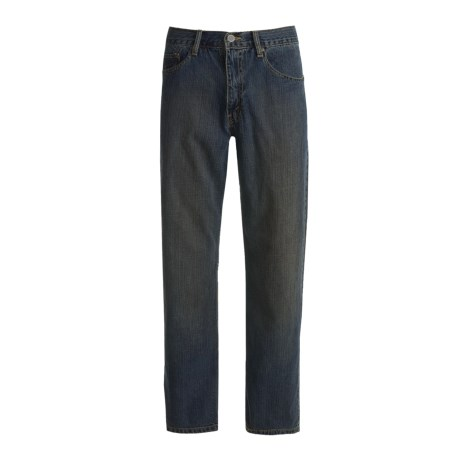 Relaxed Fit Denim Jeans - 5-Pocket (For Men) in Dirty Dark Denim