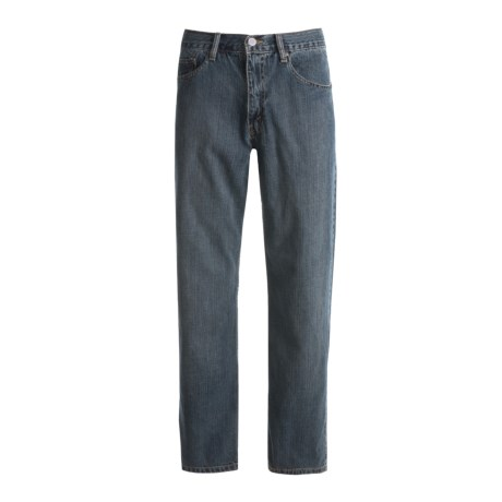 Relaxed Fit Denim Jeans - 5-Pocket (For Men) in Dirty Denim