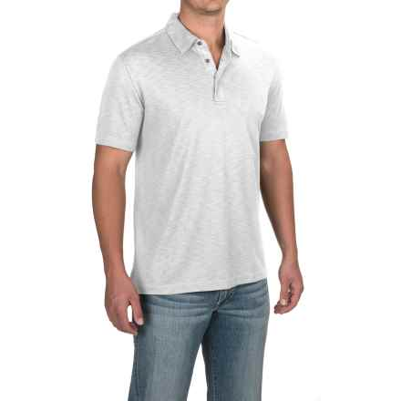 Relaxed Fit Knit Polo Shirt - Short Sleeve (For Men) in White - 2nds