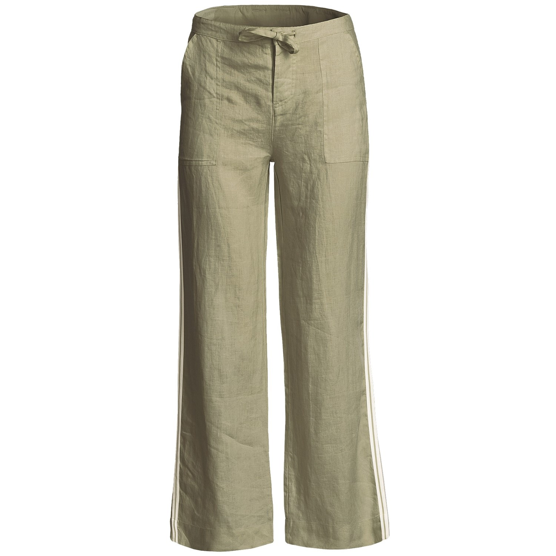 Simple The Joie Maretta Linen Pants Features Straight Leg Banded Details