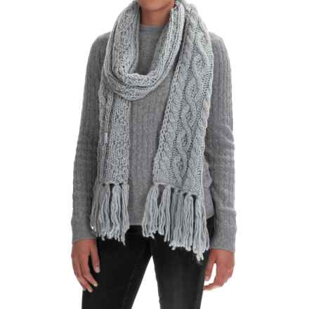 Rella Betto Hand-Knit Scarf - Merino Wool (For Women) in Heather Grey - Overstock