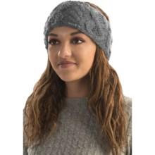 Rella Betto Headband - Merino Wool, Fleece Lined (For Women) in Heather Grey - Overstock