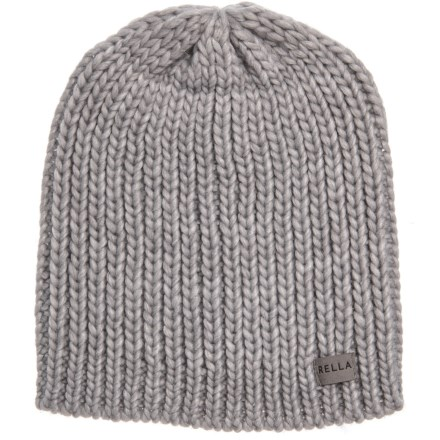 48466b402b47e Rella Heather Grey Max Rib Beanie - Merino Wool (For Women) in Heather Grey