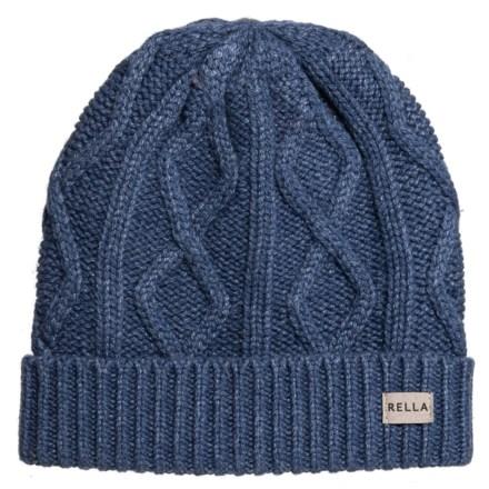 7d651bb26a2 Rella Mood Indigo Arlo Cable Cuff Beanie - Merino Wool (For Women) in Mood