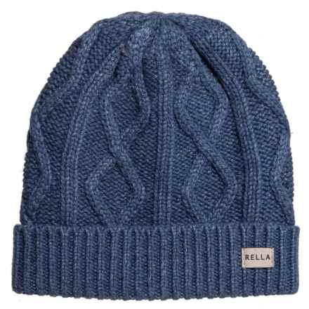 6ad1a4a62ffb0 Rella Mood Indigo Arlo Cable Cuff Beanie - Merino Wool (For Women) in Mood