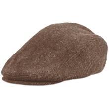 Rella Newsboy Cap - Merino Wool (For Men and Women) in Tan Tweed - Overstock