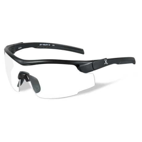 Remington Platinum Grade Protective Eyewear in Clear/Matte Black