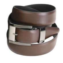Remo Tulliani Leather Belt - Feathered Edge (For Men) in Brown - Closeouts