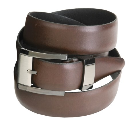 Remo Tulliani Leather Belt - Feathered Edge (For Men) in Brown