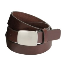 Remo Tulliani Leather Belt - Nickel Plaque Buckle (For Men) in Mahogany - Closeouts