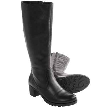 Remonte Aurica 82 Tall Boots - Leather (For Women) in Black - Closeouts