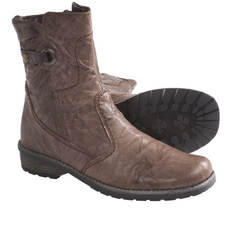 Remonte Dorndorf Lea Boots - Leather, Side Zip (For Women) in Brown