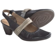 Remonte Dorndorf Queenie Sling-Back Pumps - Leather (For Women) in Black/Stone - Closeouts