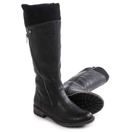Remonte Elaine 43 Boots - Vegan Leather (For Women) in Black - Closeouts