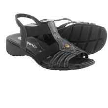 Remonte Elea 04 Sandals - Leather (For Women) in Black - Closeouts