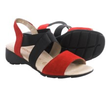 Remonte Elea 53 Sling-Back Sandals (For Women) in Fire/Black - Closeouts
