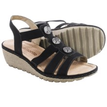 Remonte Gretchen 55 Sandals - Leather (For Women) in Black - Closeouts