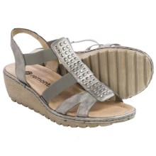 Remonte Gretchen 55 Sandals - Leather (For Women) in Silver - Closeouts