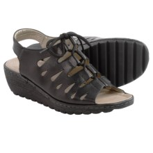 Remonte Gretchen 60 Sandals - Leather (For Women) in Black - Closeouts