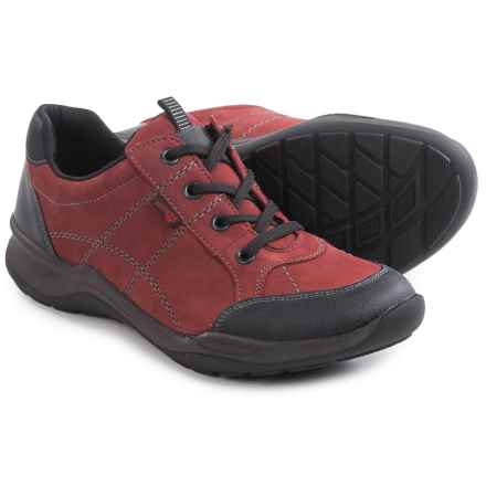 Remonte Kisha 04 Lace Shoes - Leather (For Women) in Red Combination - Closeouts