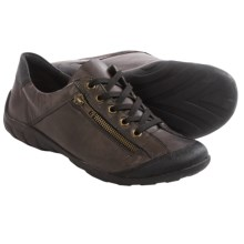 Remonte Liv 30 Oxford Shoes - Leather (For Women) in Black/Brown - Closeouts