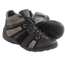Remonte Liv 61 High-Top Shoes - Leather (For Women) in Black/Steel - Closeouts