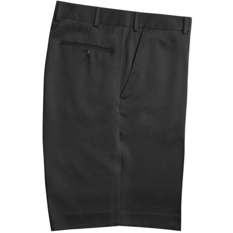 Rendezvous by Ballin Microfiber Shorts - Flat Front (For Men) in Black