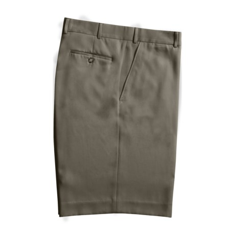 Rendezvous by Ballin Microfiber Shorts - Flat Front (For Men) in Taupe