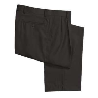 Rendezvous by Ballin Washable Wool-Twill Pants - Double-Reverse Pleats (For Men) in Black