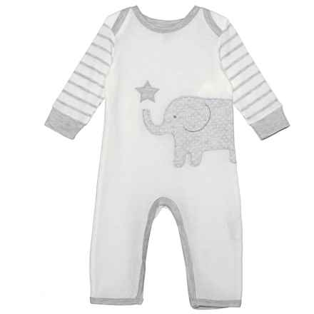 Rene Rofe Baby Bodysuit - Long Sleeve (For Newborn) in Off-White Elephant - Closeouts