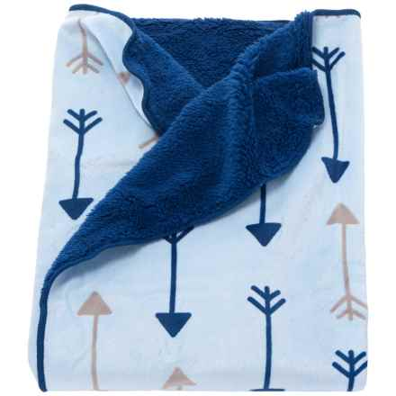 Rene Rofe Fleece Baby Blanket (For Newborn) in Blue Bow And Arrows - Closeouts