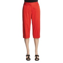 Renuar Capri Pants - Cotton Sateen (For Women) in Lobster - Closeouts