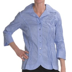 Renuar Cotton Chintz Shirt - 3/4 Sleeve (For Women) in Breeze Blue