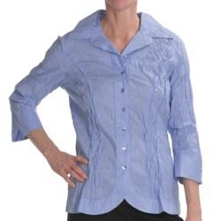 Renuar Cotton Chintz Shirt - 3/4 Sleeve (For Women) in Breeze Blue