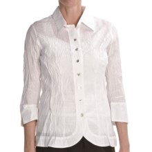 Renuar Cotton Chintz Shirt - 3/4 Sleeve (For Women) in White - Closeouts