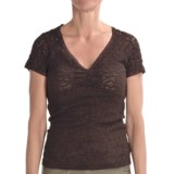 Renuar Lace Shirt - V-Neck, Short Sleeve (For Women)